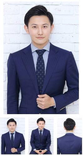 スーツに似合う爽やか七三分けショート