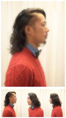 メンズ綺麗めのワイルドロングパーマスタイル