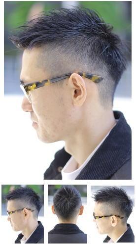 ナチュラルからモードまで刈り上げ黒髪ショート