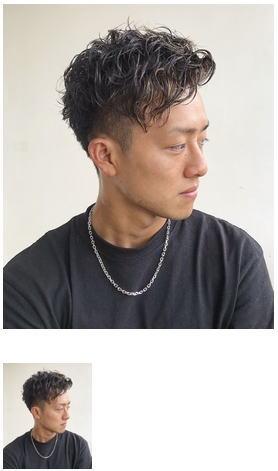 メンズヘア スパイラルパーマ×ツーブロックショート