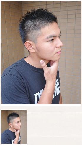 ワイルドスパイキーボウズヘアスタイル