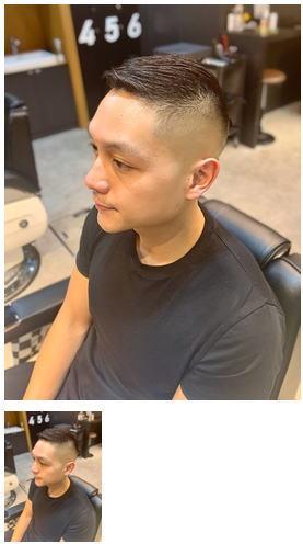 0mmフェードかき上げヘアコンマヘアショートレイヤーテクノ