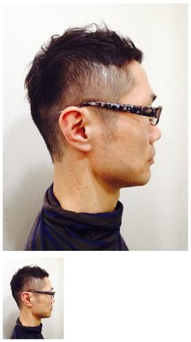 Men'sスタイルメガネに合うベリーショート