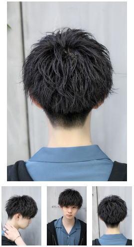 ソフトツーブロック王道細束ナチュラルマッシュ刈り上げ後ろ髪