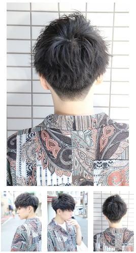フェザーマッシュ刈り上げツーブロックメンズパーママッシュ後ろ髪
