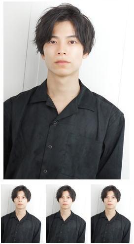 アップバングモテる流行イケメン黒髪モテ髪ツーブロックビジネス