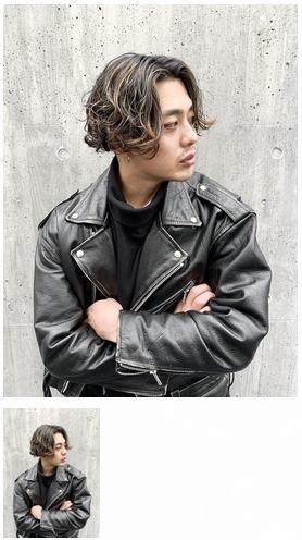 人気ロン毛スタイルハイライトヘア