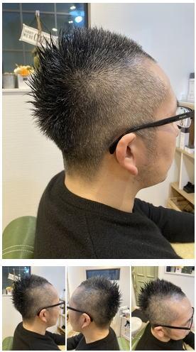 おしゃれ坊主フェザーバックボウズヘア