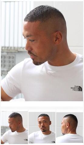 0.1mmフェードベリーショートメンズヘア