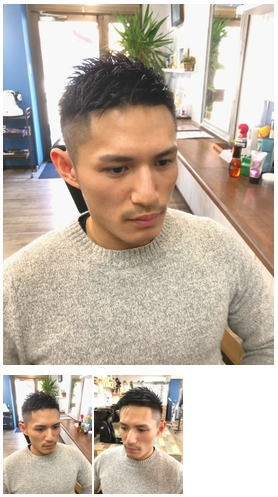 カッコいいメンズ短髪黒髪ベリーショート