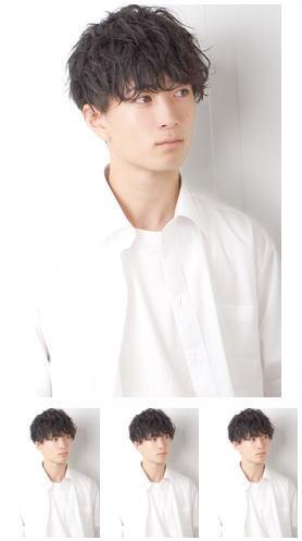 ニュアンスパーマ束感マッシュ刈り上げ流行イケメン黒髪モテ髪