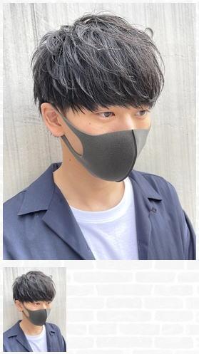 マスクでも似合うコンパクトナチュラルマッシュ
