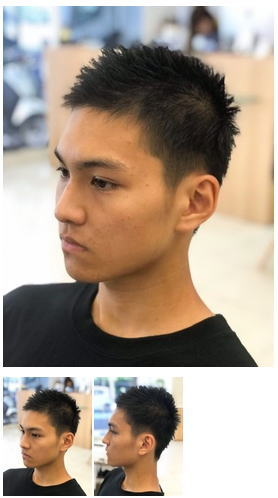黒髪×ソフトモヒカンメンズショートスタイル