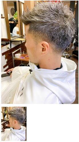毛流れが綺麗なグレイヘア