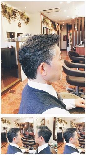 メンズグレイヘアスタイル