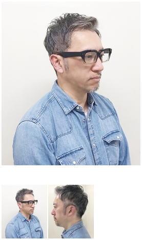 40代50代渋さを生かすグレイヘアスタイル