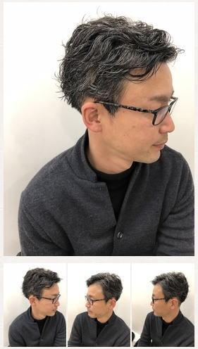 刈り上げすっきりグレイヘア×パーマ