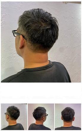 清潔感のあるグレイヘアショート