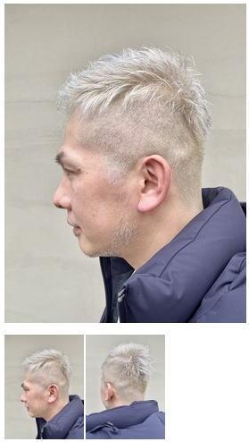ブリーチホワイトペールカラー白髪染めグレイヘア
