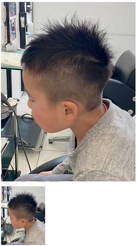小学生ソフトモヒカン