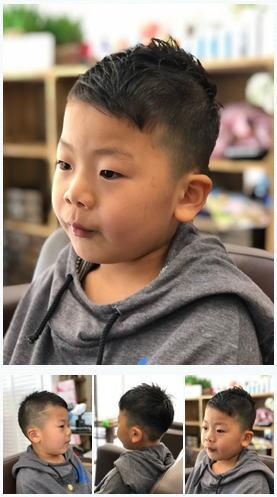 5歳男の子アシメソフトモヒカン