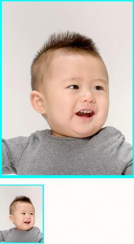 6か月~1歳未満児の男の子カットソフトモヒカン