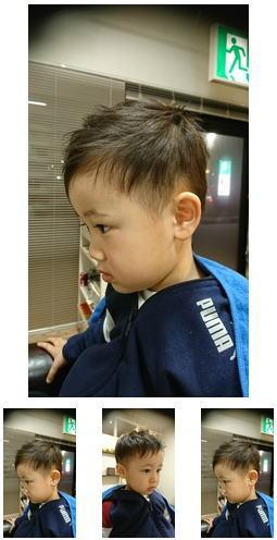 3歳の男の子バリバリツーブロック