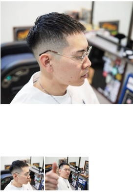 丸メガネ×clopヘアスタイル