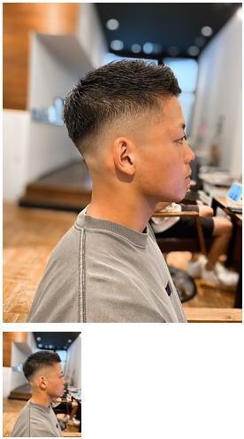 バーバースタイル×スキンフェード×黒髪短髪