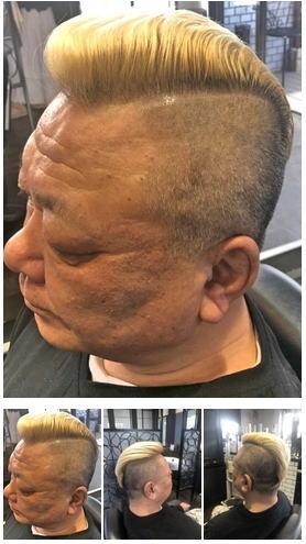 粋ないかつい震災刈りヘアスタイル