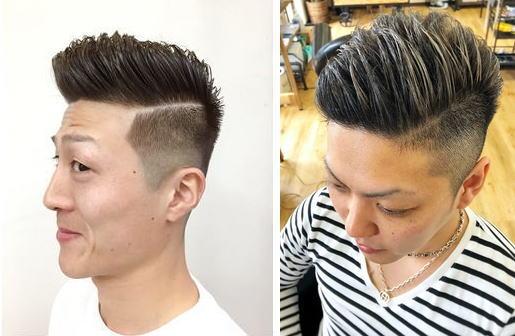 刈り上げ震災刈りフェードヘアスタイル