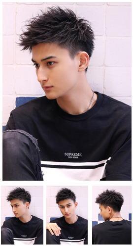 短髪黒髪ショート/ワイルドツーブロック/ソフトモヒカン