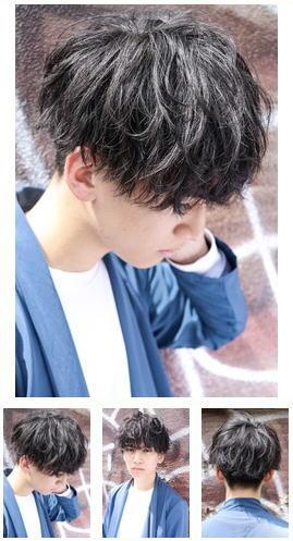 モテる好印象くせ毛風パーマ/黒髪ニュアンスパーマ