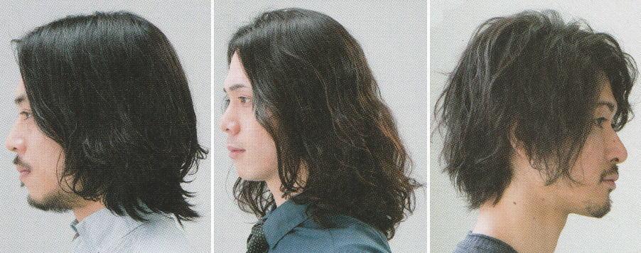 軟毛メンズ髪型【ロング】