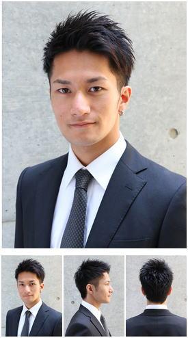 前髪アールストレートのトラッドビジネスショート