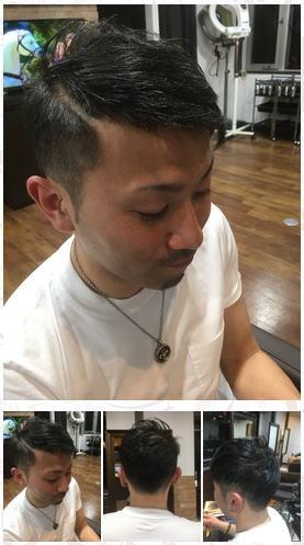 ワイルド3ミリ剃り込みアシメヘア