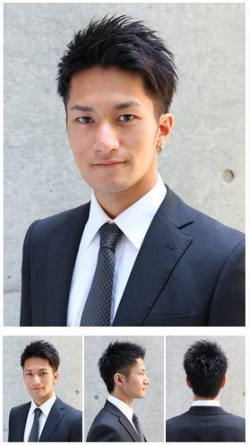 トラッドビジネスショート前髪アールストレート