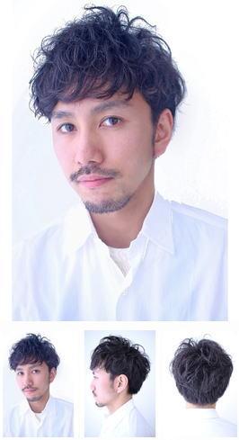 ピンパーマmixラフパーマ刈り上げヘア