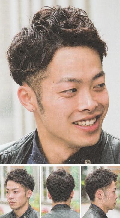 ツーブロックパーマ薄毛&M字カバー【短髪パーマ】