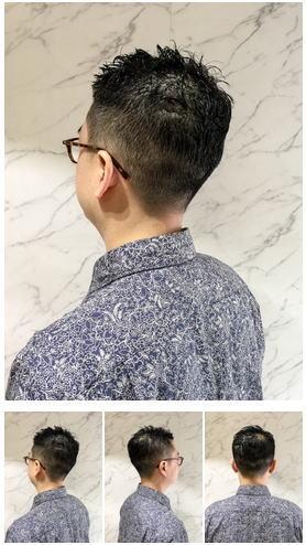 30代40代のオトコのシンプル黒髪スタイル