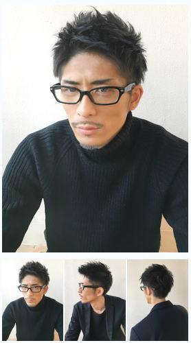 メンズ30代ビジネス/メガネ似合うショート