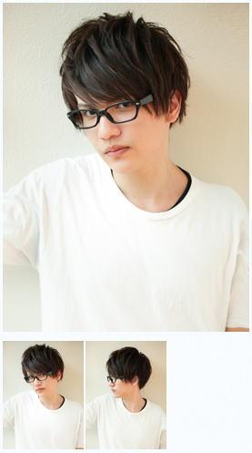 メンズメガネが似合う/ビジネス髪型マッシュスタイル