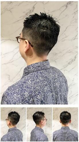 メガネも似合う30代40代のオトコのシンプル黒髪スタイル