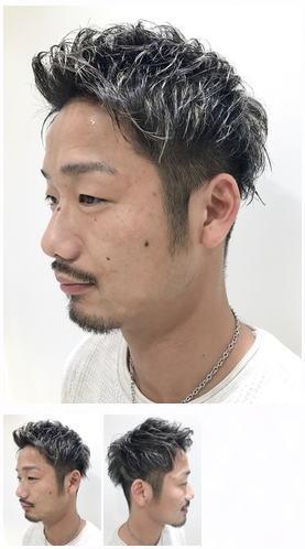 黒髪3Dハイライト短髪ベリーショート