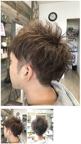 細い髪でボリュームUPメンズパーマ束感マッシュ