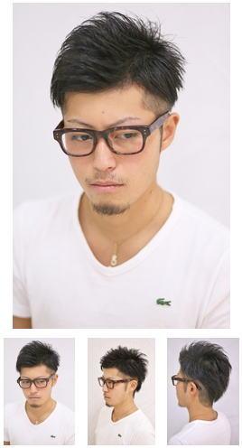 黒髪短髪カジュアル爽やか七×三2ブロック
