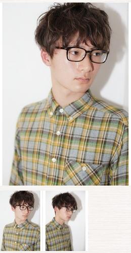 簡単スタイリング/メガネに似合うマッシュショート