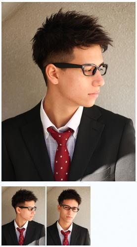 メンズ30代好感度刈り上げビジネスメガネ