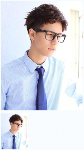 20代30代ビジネスショートメガネ髪型