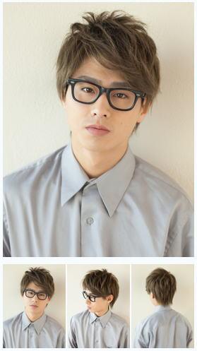 メンズメガネ/刈り上げビジネス好感度髪型